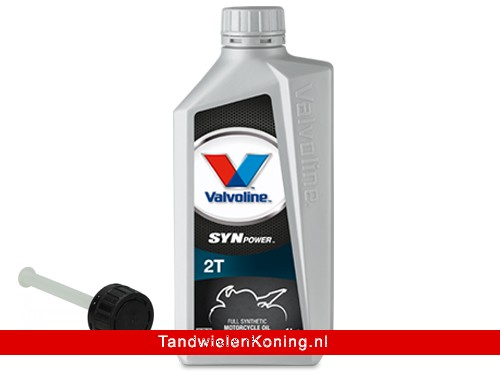 Valvoline SynPower 2T Olie + Vultuit Full-Synthetisch Fles 1L